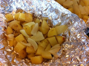 Potatoes with onions
