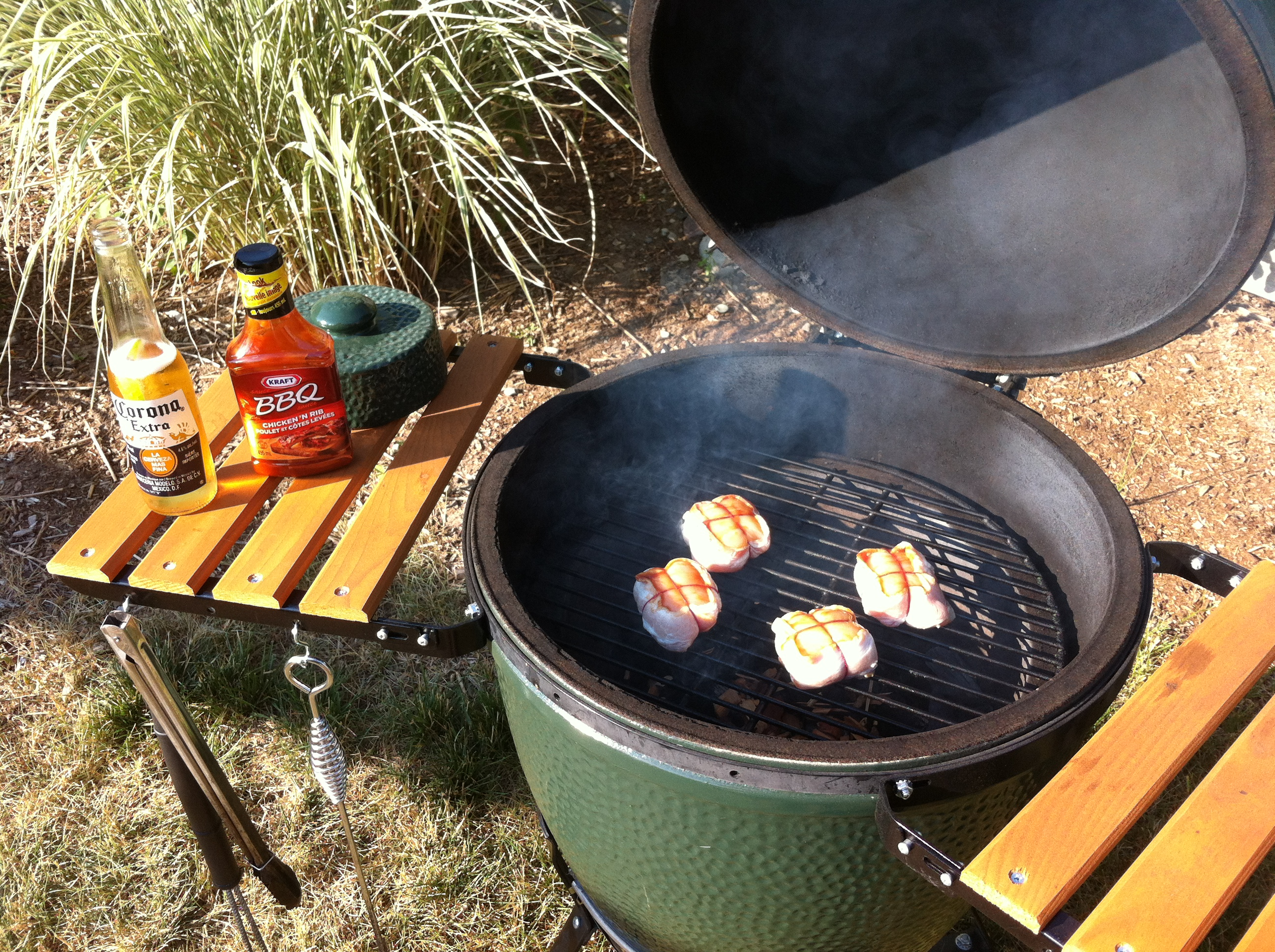 Bacon Wrapped Chicken Before The Grill Chicken On The Big Green Egg